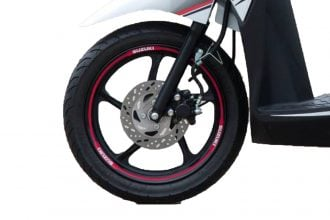 rim decal address 110 Suzuki red